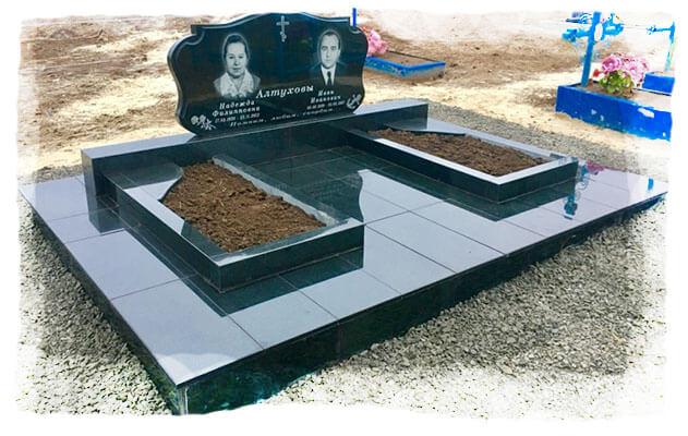 двойные памятники на могилу фото