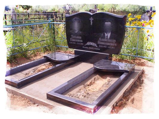 двойные памятники из гранита в минске